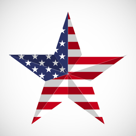 american history: Star in national flag usa. Memorial day concept Illustration
