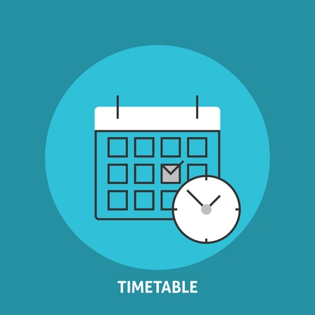 appointments: Timetable vector illustration. Calendar and clock icons