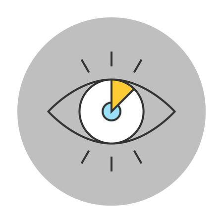 hypnotizing: Vision concept line icon. Eye vector symbol