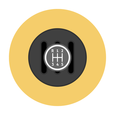 shifter: Manual Transmission flat icon. Gear shifter icon Illustration