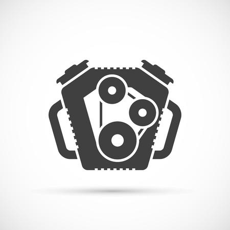 spare part: Car engine icon. Car repair service spare part Illustration