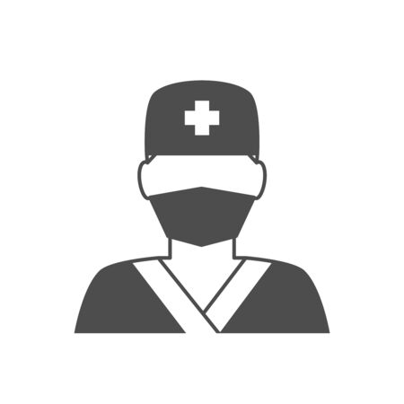 surgeons hat: Doctor avatar icon. Surgeon doctor in medical clothes