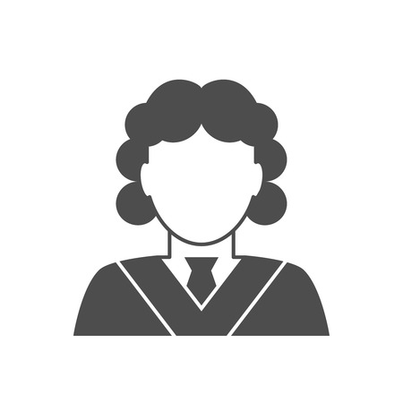 magistrate: Judge avatar icon. Judge in a wig