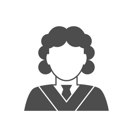 Judge avatar icon. Judge in a wig