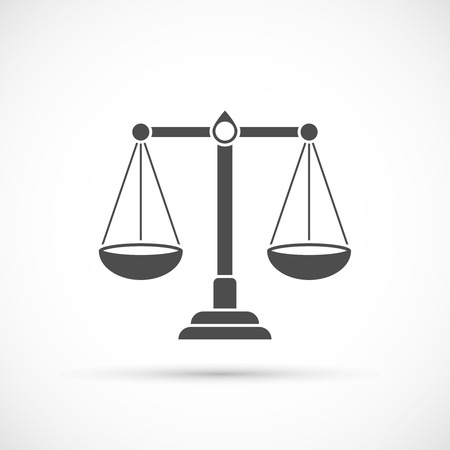 scale of justice: Libra icon. Justice symbol Scale icon