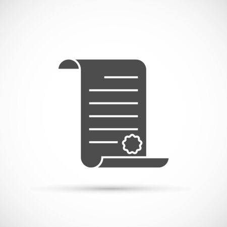 decree: Paper scroll icon. Decree with wax seal