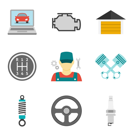 auto service: Auto Service Icons Flat vol 2. Car repair service icons