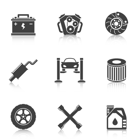 auto service: Auto Service Icons. Car repair service icons Illustration
