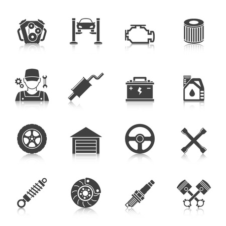 disk break: Auto Service Icons set. Car repair service icons Illustration
