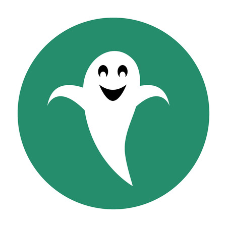 Grinning ghost flat icon