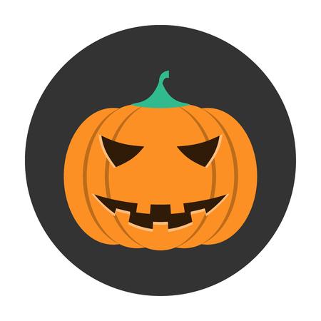 helloween: Helloween orange pumpkin icon flat Illustration