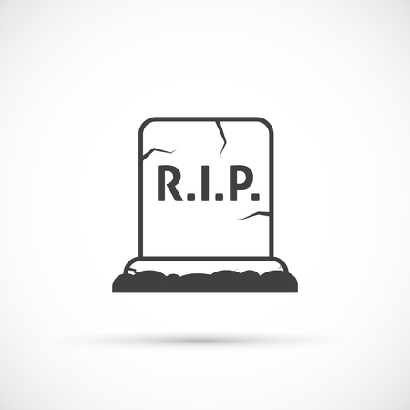 grave: Grave icon on white background
