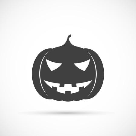 of helloween: Helloween pumpkin icon on white background