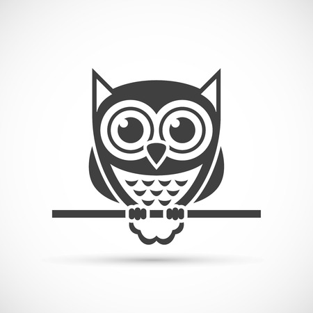 Owl icon. Halloween illustration