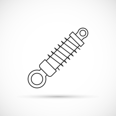 shock absorber: Shock absorber outline icon. Auto repair service icon Illustration