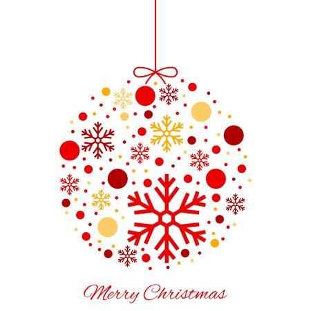 Merry Christmas color ball ornament