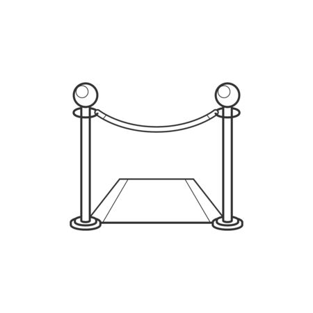 Fence with carpet line icon Illustration