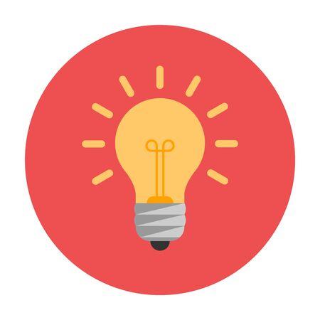 flat: Lightbulb flat icon