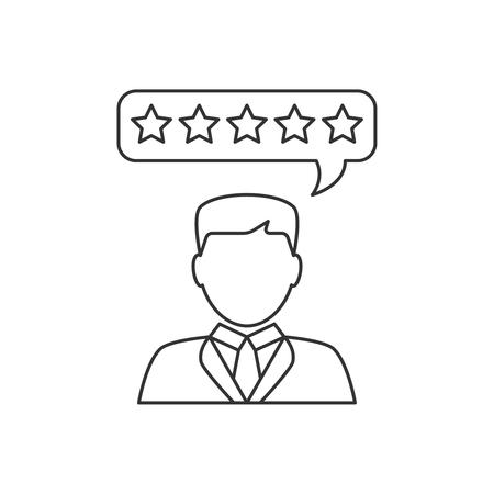 reviews: Customer reviews flat line icon