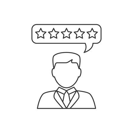 Customer reviews flat line icon