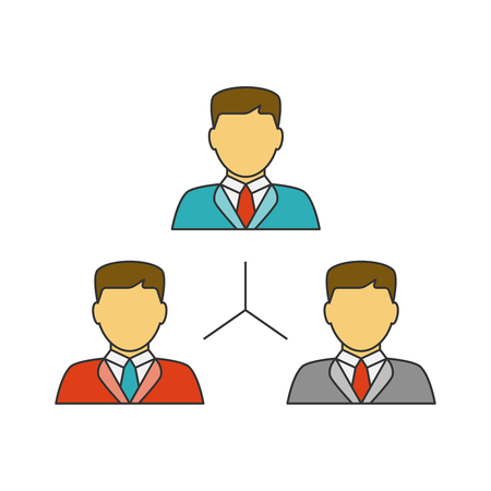 People network flat line icon