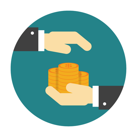 Money protection flat icon. Illustration