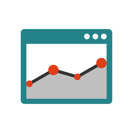 Browser window with chart Illustration