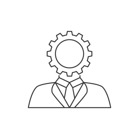User setting line icon Illustration