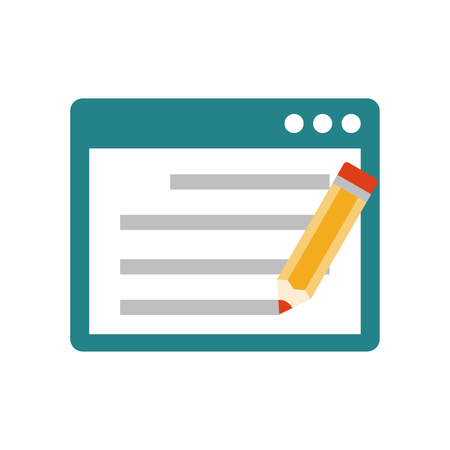 Seo copywriting flat icon