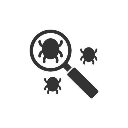 Search bug icon. Illustration