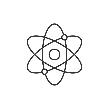 Atomic structure line icon Illustration