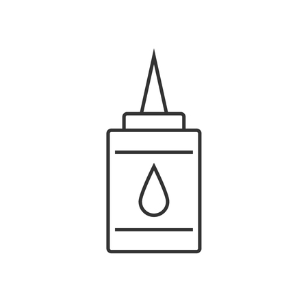 Doodle glue linear icon Illustration