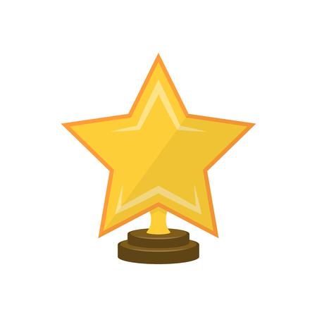shiny gold: Star on pedestal