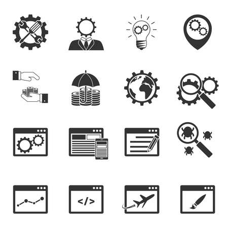 umbrela: Internet marketing icons set
