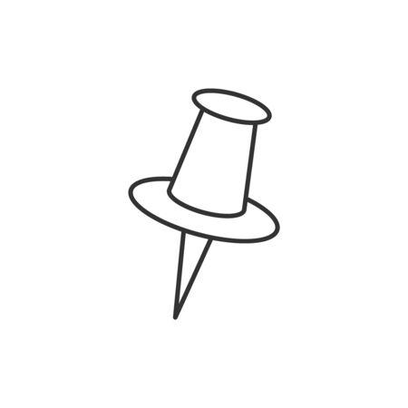 Icône de ligne de punaise