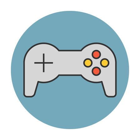 Joystick flat line vector icon