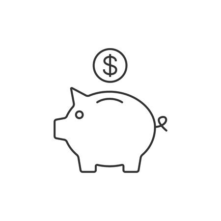 Piggy bank outline icon