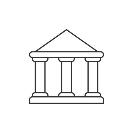 Government building outline icon