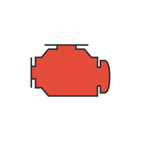 auto repair: Check engine icon illustration.