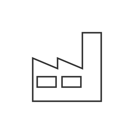 Factory outline icon on white Illustration