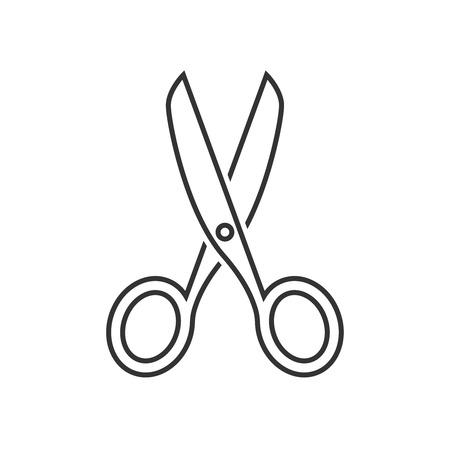 Scissors outline icon Çizim