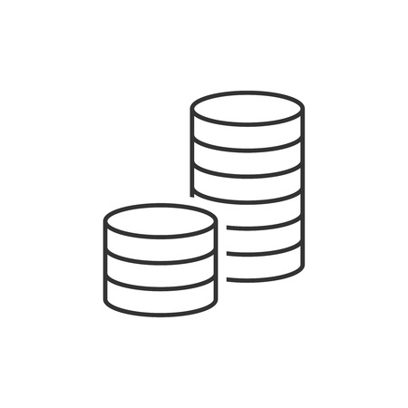 Pile of coins icon vector illustration.