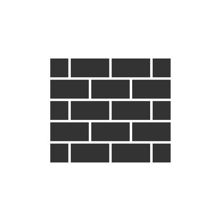 Brick wall black icon Illustration