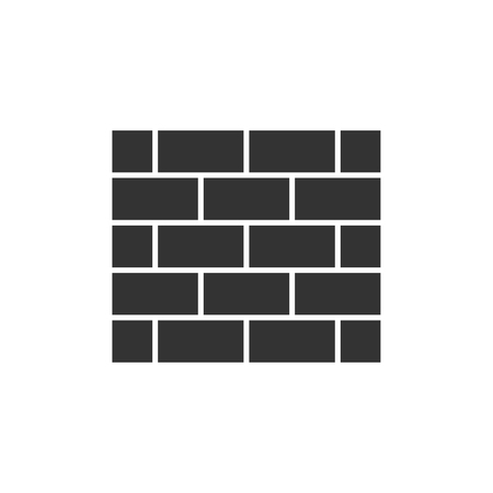 Brick wall black icon Vettoriali