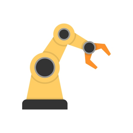 Robotic arm flat icon