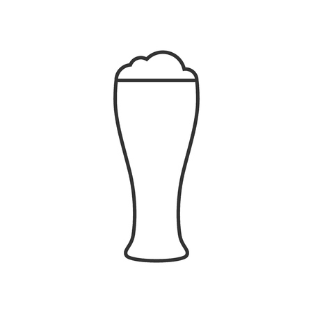 Glass of beer outline icon