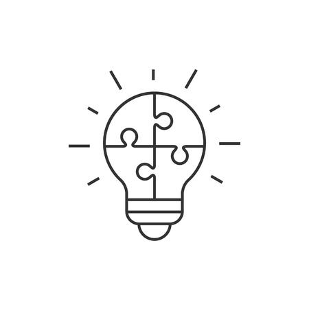 Light bulb puzzle icon