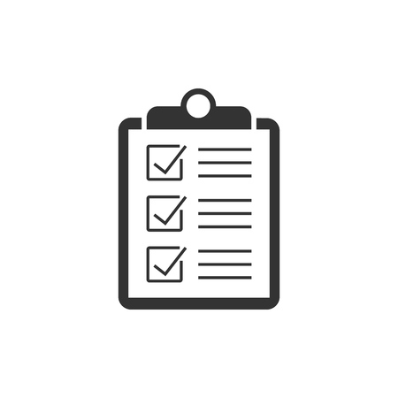 Checklist on clipboard icon. Business concept Ilustrace