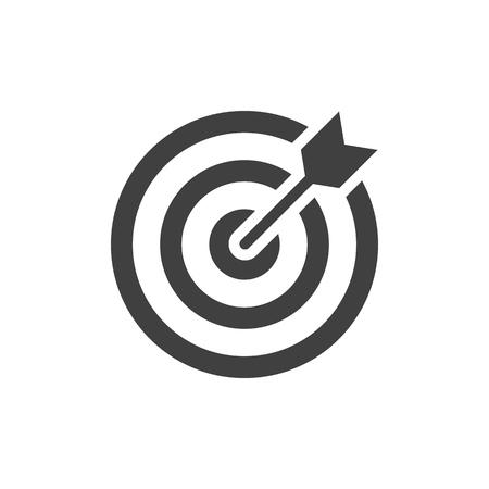 Schwarzes Symbol auf weißem Hintergrund anvisieren