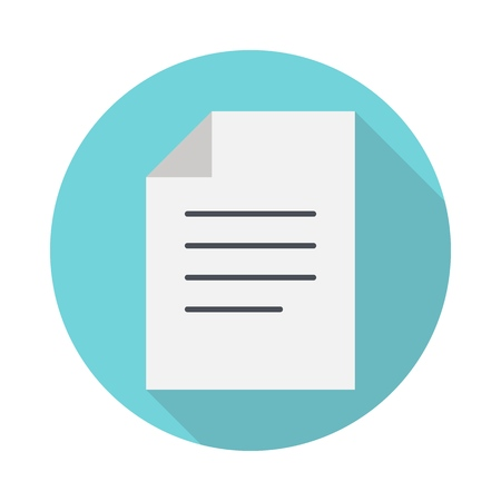Document flat icon. Business concept Ilustrace